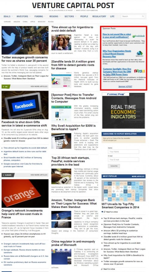 Venture Capital Post Sponsor Post