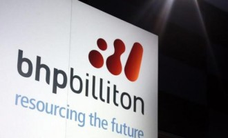 BHP Billiton sign