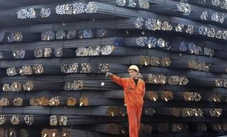 Steel bars at Qingdao, Shandong province