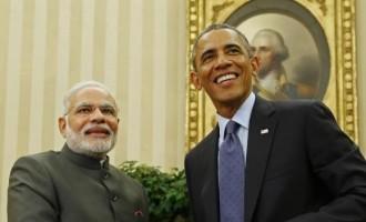 U.S. President Barack Obama and India's Prime Minister Narendra Modi