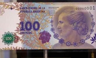 Evita bank notes