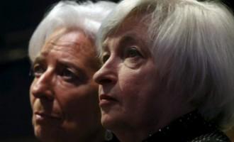 Janet Yellen (R) and Christine Lagarde