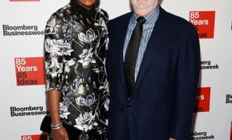Mellody Hobson (L) and George Lucas