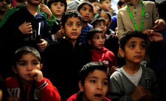Santa Claus Visits Migrants Shelter
