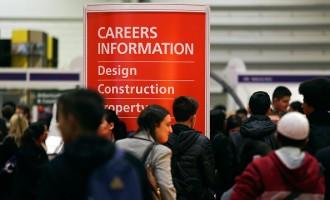 Visitors Attend The Skills London Job Fair