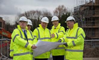 George Osborne and Boris Johnson Visit The Aura Residential Development