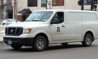 Amazon Truck In Chicago