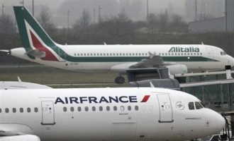 Air France-KLM and Alitalia Planes
