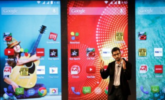 Google Inc.'s Senior Vice President Of Android, Chrome And Apps Sundar Pichai Launches The Android One Platform