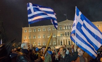 Farmers from all over Greece demonstrate in Syntagma Square...