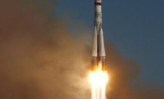A Soyuz-2.1a rocket with a Fregat upper
