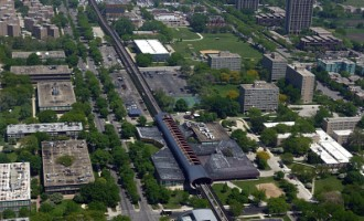 Aerial View Of The CTA Green Line Route