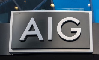 AIG or American International Group signage on its building.