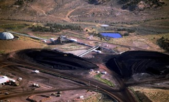 An aerial overview of the Peabody Energy