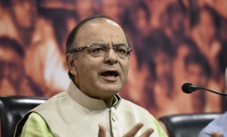 Union Finance Minister Arun Jaitley Addresses A Press Conference At BJP HQ