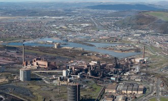 Aerial Views Of Tata Steel Plant In Port Talbot