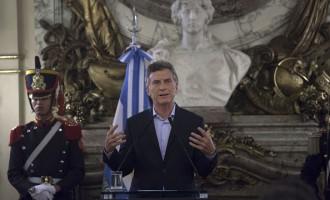 Argentina President Mauricio Macri Holds News Conference